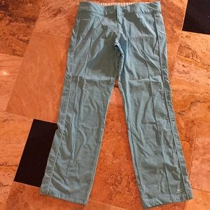 Nike aqua/turquoise elastic waist warm up pants